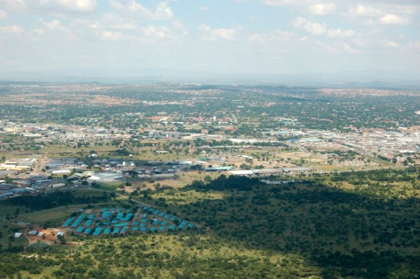 Flying in to Polokwane, South Africa.